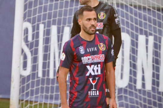Ayoze Placeres, en un partido con su anterior club, el Yeclano | Daniel Castillo
