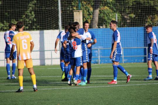 Eder Díez y Nando Quesada celebran el 1-0 | CD Ebro