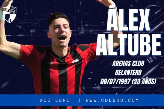 El delantero centro Álex Altube se convierte en el noveno fichaje del CD Ebro