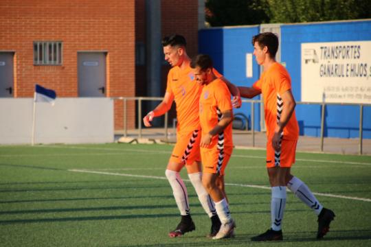 Nando Quesada y Álex Altube, en imagen, anotaron 4 de los 5 goles | CD Ebro